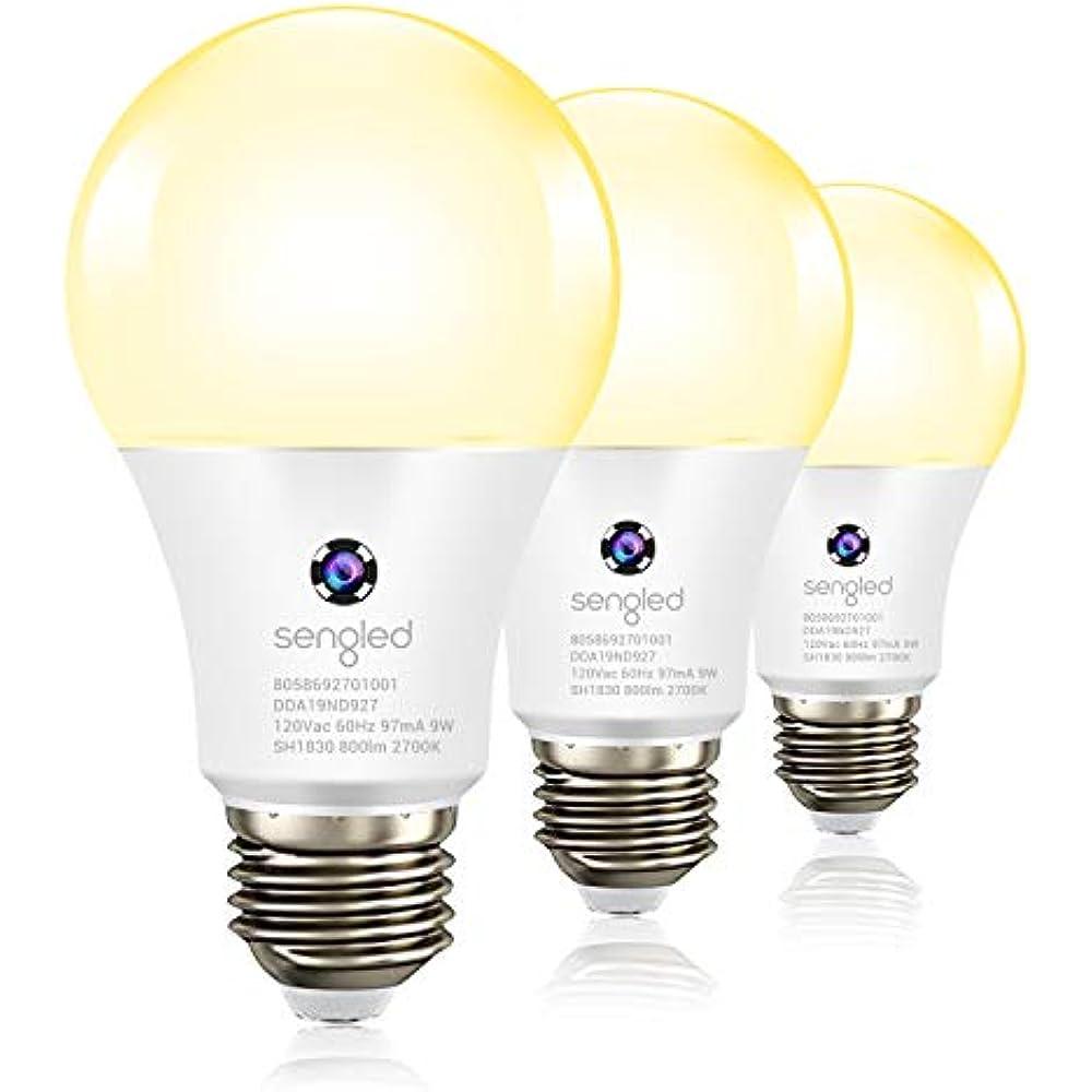 Dusk To Dawn Light Sensor Bulb Outdoor Indoor Led Photocell Soft White A19 E26 3