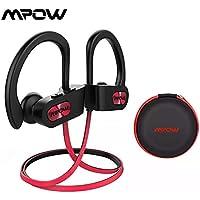 Fone De Ouvido Bluetooth 4.1 Mpow Flame Preto Com Vermelho Esportes