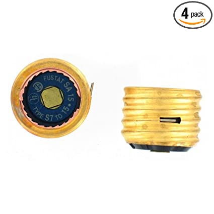 amazon com: bussmann sa-15 15 amp single motor circuit edison base fustat  fuse adaptor, 4-pack: home improvement