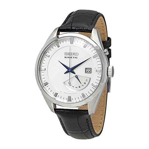 Seiko Kinetic Watch SRN071P1 - Leather Gents Kinetic Analogue