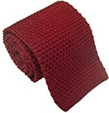Borgoña Seda corbata de punto de Michelsons of London