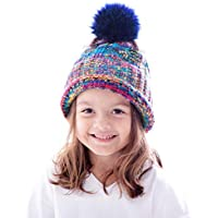 Simplicity Toddler Winter Hat Cable Knit Pom Pom Beanie Hat for Kids