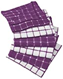 big_store Kitchen Towel Bar Cotton Terry Windowpane Dish Cloths 12 X 12 Set of 6 Machine Washable and Ultra Absorbent Easy Care Dishclothsperfect to Coordinate with Any Kitchen & ebook
