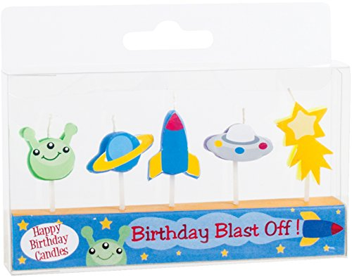 Party Partners Candid Candles Shaped Cake Decoration, Birthday Blast Off by Party Partners