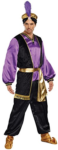 Dreamgirl Men's The Sultan Costume, Purple/Black/Gold, X-Large for $<!--$74.99-->