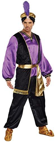 Dreamgirl Men's The Sultan Costume, Purple/Black/Gold, ()