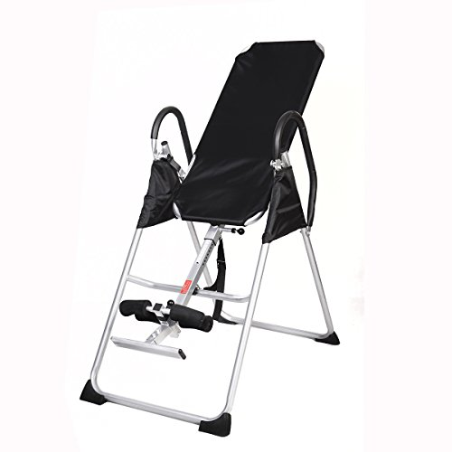 New GOPLUS New Inversion Table Deluxe Fitness Chiropractic Table Back Pain Relief Exercise