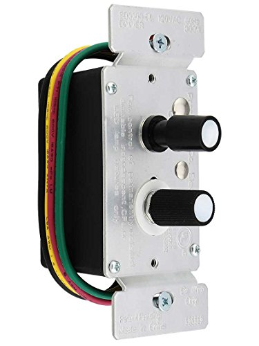 Standard 3-Way Push Button Universal Dimmer Switch With Pearl Buttons 300W