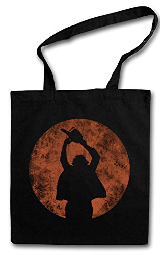 CHAINSAW MAN Hipster Shopping Cotton Bag Borse riutilizzabili per la spesa – Non aprite Massaker quella porta Texas Horror Movie Massacre Leatherface Mask