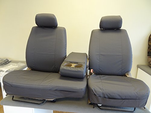 Durafit Seat Covers T787-D8 2000-2004 Toyota Tundra Front 40/60 Split Seats with Fold Down Console. Gray Automotive Twill.