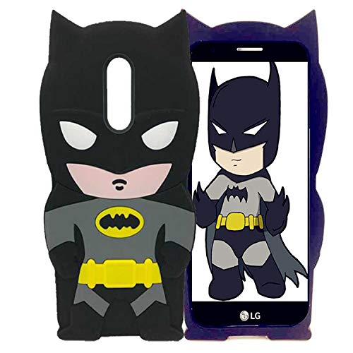 Cases for LG Stylo 4, LG Stylus 4 Plus, LG Q Stylus Case Cute Batman 3D Cartoon Soft Silicone Animal Rubber Shockproof Anti-Bump Protector Lovely Kids Boys Gifts Cover for LG Stylo 4