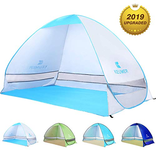 best service d5593 09f73 BATTOP Pop Up Beach Tent Sun Shelter Cabana Anti UV Beach Shelter for 2-3  Person Outdoor Sets up in Seconds