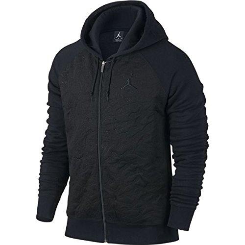 Jordan Retro 3 Full-Zip Fleece Hoodie Black 819125 010 (l) by NIKE