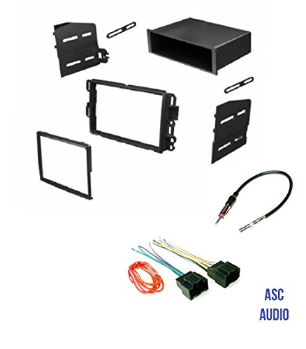 Car Stereo Install Dash Kit, Wire Harness, and Antenna Adapter to Add Radio for some GM LAN29 Buick Chevrolet GMC Pontiac Saturn.- Basic Wire Won't Work With All Vehicles- See Important Notes Below ()