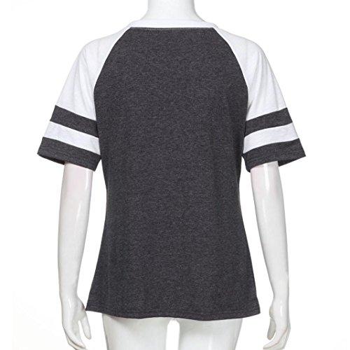 Donna Sanfashion Ballerine Grigio Damen Shirt155 Bekleidung Scuro xppZHB