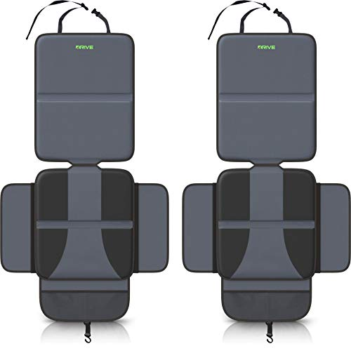 Drive Auto Products Car Seat Protector (2-Pack), Black - Ultimate Neoprene Backing is Best...