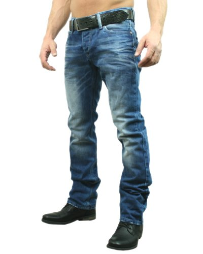 Redbridge by Cipo & Baxx Herren Jeans Hose Pants 9657, blau