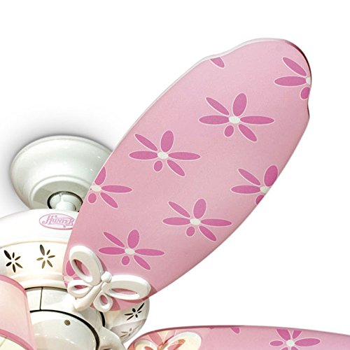 Hunter dreamland 44 in white and pink kids downrod or flush mount hunter dreamland 44 in white and pink kids downrod or flush mount ceiling fan with light kit amazon aloadofball Image collections