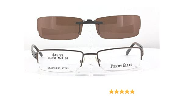 05c4d3e57fb6 Amazon.com  PERRY-ELLIS PE262A-2-54X18 POLARIZED CLIP-ON SUNGLASSES (Frame  NOT Included)  Health   Personal Care