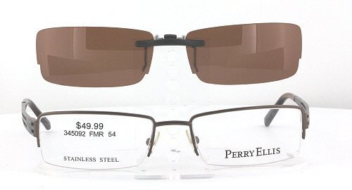 amazoncom perry ellis pe262a 2 54x18 polarized clip on sunglasses frame not included health personal care
