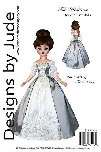 "Outlander Wedding Dress Doll Clothes Printed Sewing Pattern for 21"" Cissy Madame Alexander Dolls"