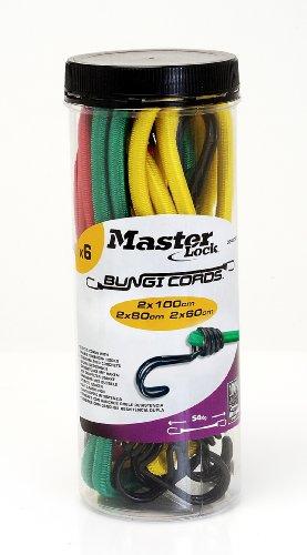 6er Set elastische Spannseile Rot/Grün/Gelb mit Aufbewahrungsdose