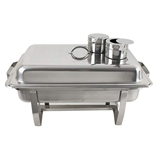SUPER DEAL 8 Qt Stainless Steel 4 Pack Full Size Chafer Dish w/Water Pan, Food Pan, Fuel Holder and Lid For Buffet/Weddings/Parties/Banquets/Catering events (4) by SUPER DEAL (Image #6)
