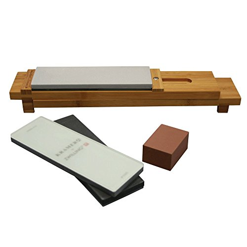 KRAMER by ZWILLING 34999-403 6-pc Glass Water Stone Sharpening Set, 16', Brown