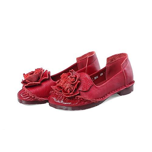 Compensées Femme 36 ERR00015 Aimint Red Sandales EU Rouge 5 EqPftBw