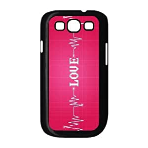ALICASE Diy Back Case Love Pink For Samsung Galaxy S3 i9300 [Pattern-1]