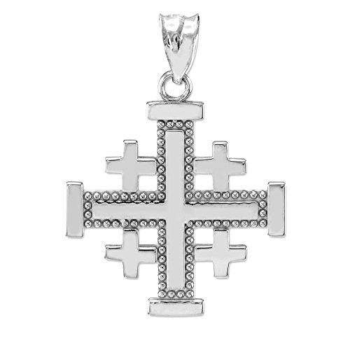 (Masonic Jewelry (Freemason) 925 Sterling Silver Jerusalem Cross)