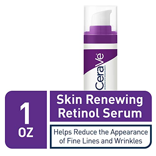 41v9p1SEzQL - CeraVe Anti Aging Retinol Serum for Face | 1 Ounce | Cream Serum for Smoothing Fine Lines | Fragrance Free