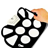 ETbotu Professional Roll up Drum Pad Kit Silicon Foldable with Drum Stick Portable Electronic Drum USB Drum