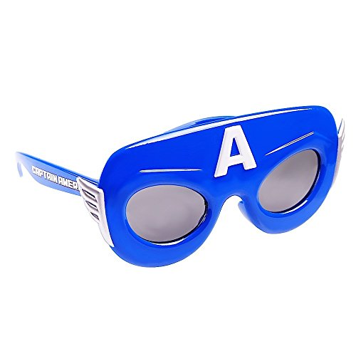 Sun-Staches Costume Sunglasses Marvel Lil' Characters Captain America Party Favors UV400 -