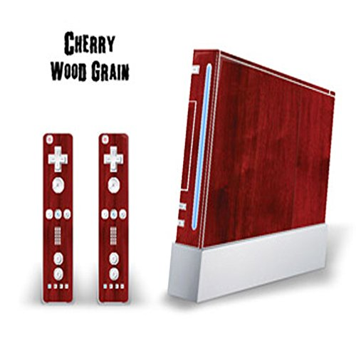 Wii Vinyl Skin - MightySkins Skin Decal Cover for Nintendo Wii Console + two Wiimote Controllers Sticker- Cherry Woodgrain
