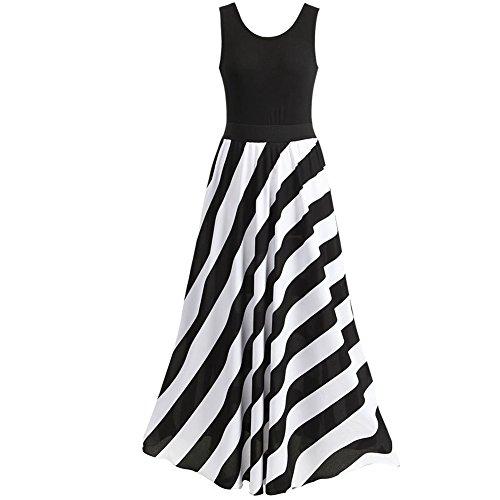 long black and white maxi dress - 3