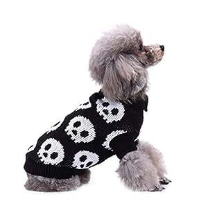 CHIYEEE Navidad Mascotas suéter Invierno Perro del Perrito Traje Caliente Los Gatos Ropa de Abrigo L