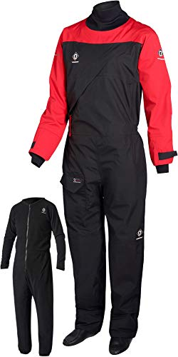 2018 Crewsaver Atacama Sport Drysuit Front Zip RED /, Black, Red, Size Large