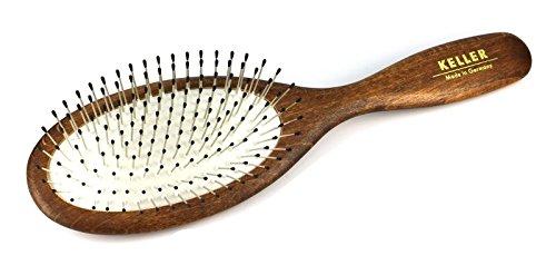 Haarbürste aus heimischem Holz mit Stahlstifte mit Noppen in Airlastic-Spezialkissen (kein Zurückgehen der Stahlstifte durch Spezialkissen), Pflege für Haare, Auskammbürste für Naturhaar, Größe 230 x 63 mm Pflege für Haare Größe 230 x 63 mm KulturGUT Shop