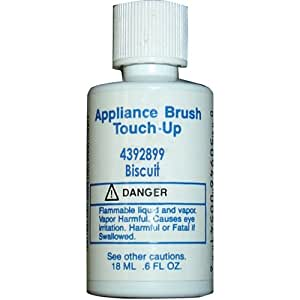 Whirlpool 4392899 Appliance Brush On Touch-Up Paint (Biscuit color)