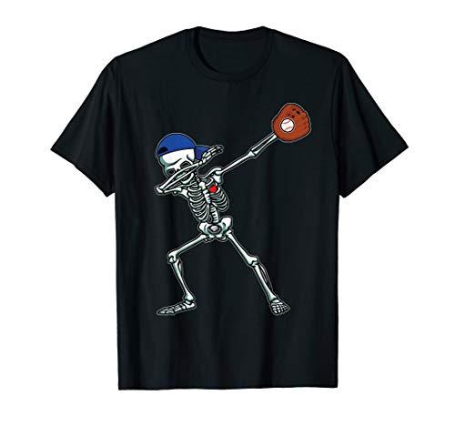 Dabbing Skeleton Baseball T-Shirt Dab Hip Hop Skull Gift -