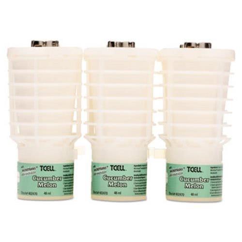 Rubbermaid 402470 TCell Microtrans Odor Neutralizer Refill, Cucumber Melon, 1.62 oz, 6/Carton