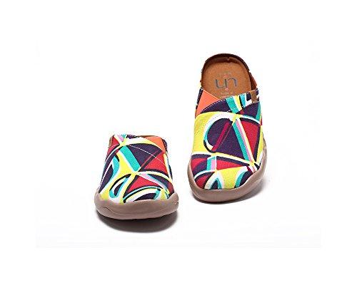 UIN Pantoufle décontractée de canevas de bloc coloré des femmes Multicolore
