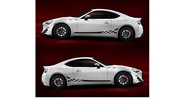 Amazon.com: Toyota gt86 boxer trd scion fr-s subaru brz hachi-roku sport car stripes kit sticker 2.0 turbo sedan: Automotive