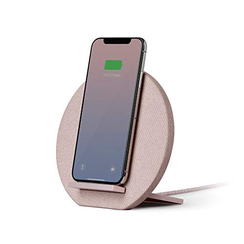 Native Union Dock Wireless Charger - [Qi Certified] 10W Versatile Fast-Charging Stand for Wireless Devices - Compatible with iPhone Xs/XS Max/XR/X/8/8 Plus (Rose)