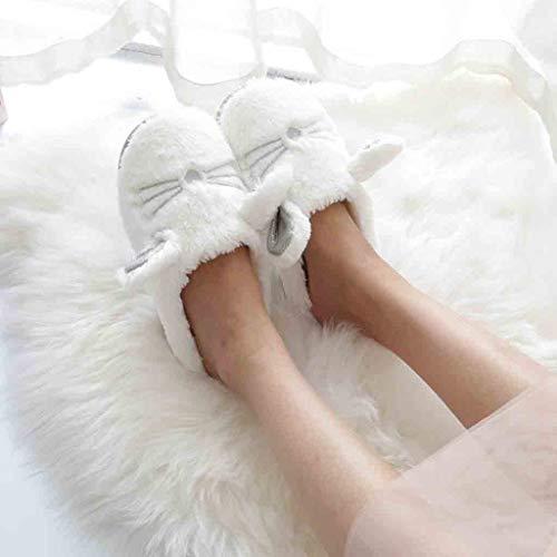 De En D'intérieur Mignon Sunnywill Dessin Coton Animé Pantoufles Blanc Chaussures D'hiver qSwExYBAR
