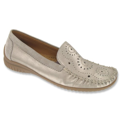 86 Argento Loafers Fumo 094 Soft Women's Nubuk Gabor Shoes Ygta5Pn