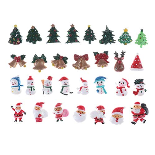 Bestchoice - 10pcs/lot Resin Selling Christmas Set, Resin Flatback Cabochon for Hair Bow Center, DIY Navidad Navidad