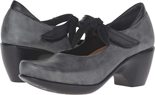 Naot Footwear Women's Pleasure Vintage Smoke Leather/Black Raven Leather/Black Velvet Nubuck Pump 40 (US Women's 9) M ()