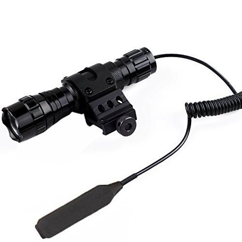Flashlight Rifle (BESTSUN 1200 Lumens Mini Portable Tactical Waterproof LED Flashlight Ultra Bright Handheld Torch Pressure Switch with 1'' Offset Mount)